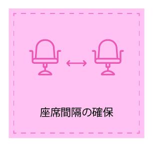 座席間隔の確保